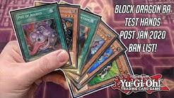 Yu-Gi-Oh! Block Dragon BA Test Hands! Post January 2020 Ban List!