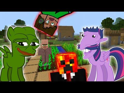 Další Koně a 2 Vesnice!! - [Minecraft-Survival] w/ Hruška