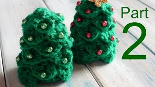 Crochet Crocodile Stitch Mini Christmas Tree Tutorial 2