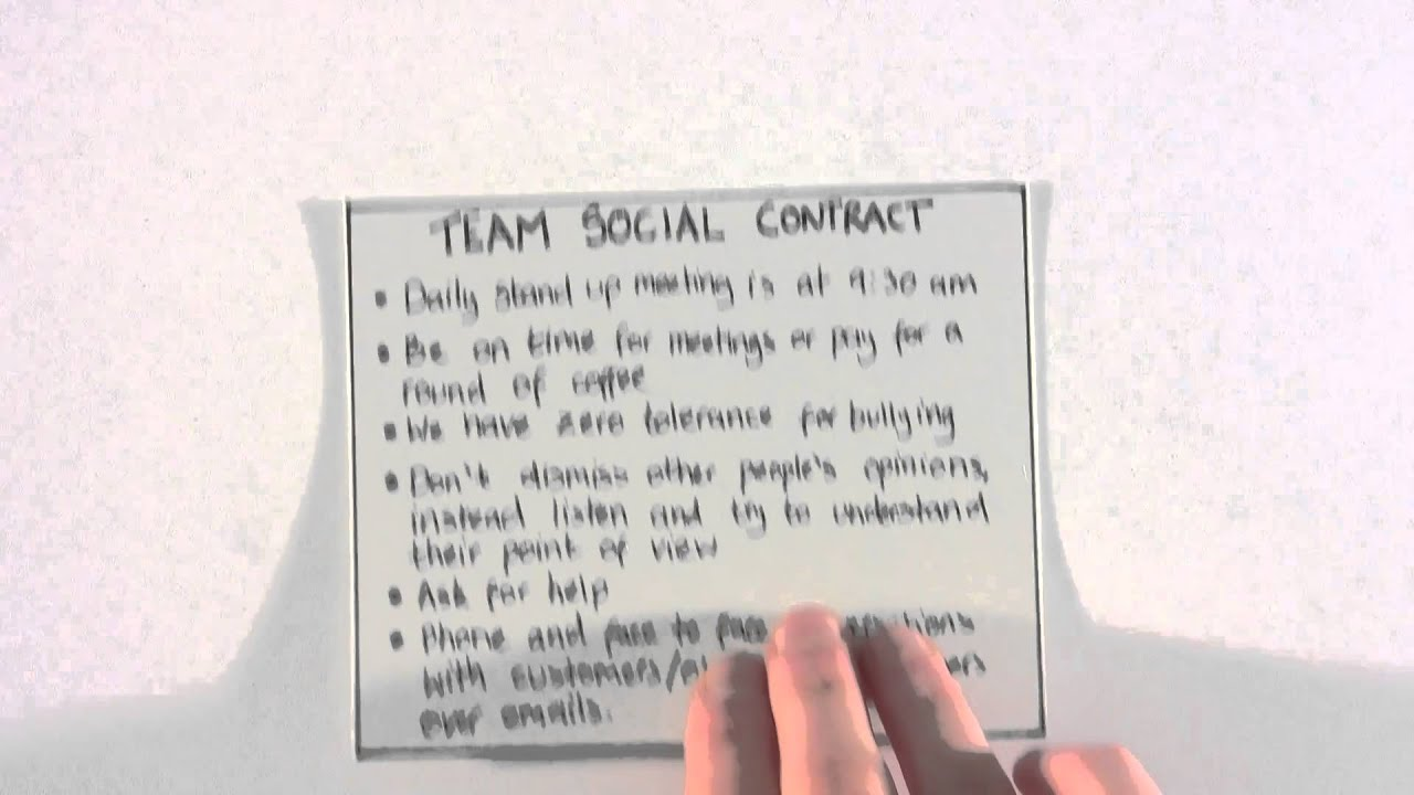 Agile in Practice Social Contracts YouTube – Social Contract Template