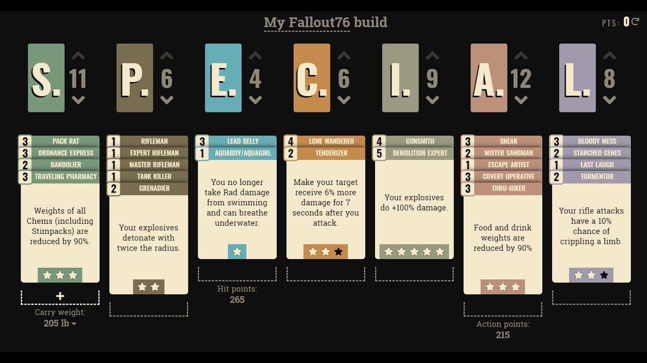 fallout 76 explosives build