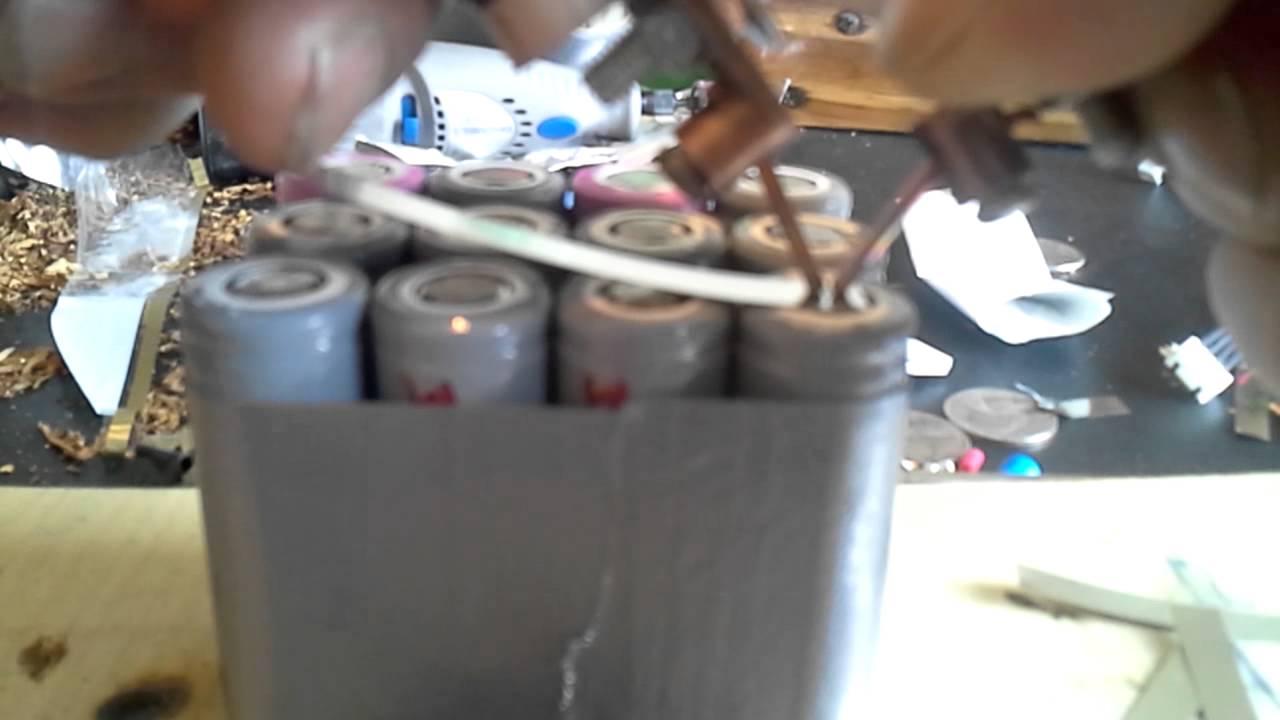 Spot welding 18650 battery tabs