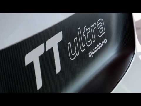 Le Mans champion André Lotterer driving the Audi TT ultra quattro concept