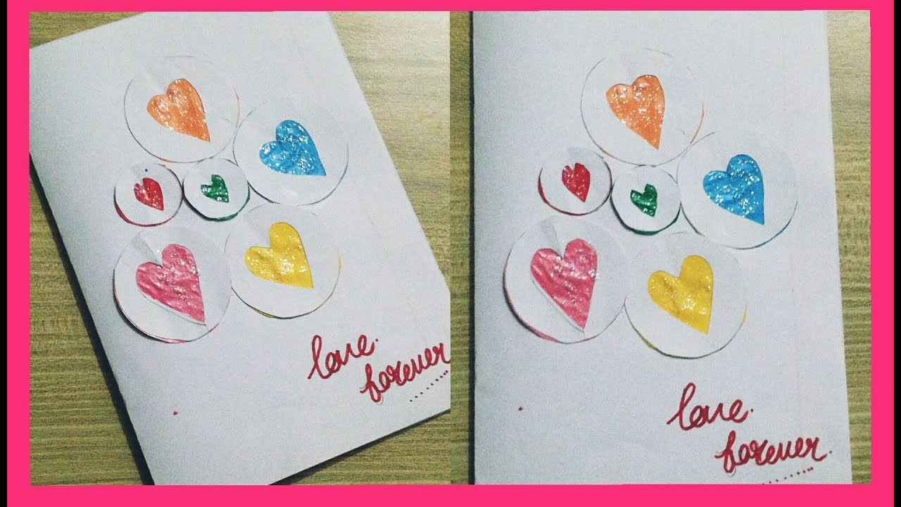 easy and simple handmade greeting card at homebeautiful
