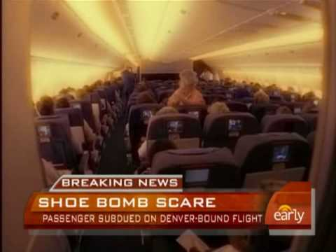Mid-Air Shoe Bomb Scare