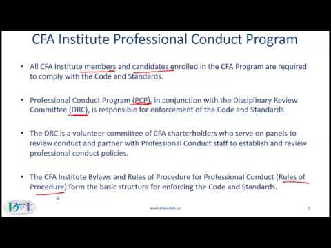 CFA level 3 | Irfanullah video lecture | R01 Code and Standards