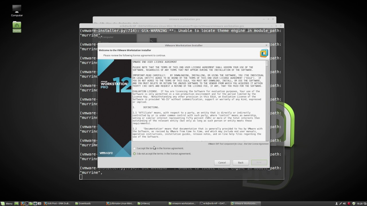 How to install the latest vmware workstation pro 12 5 on