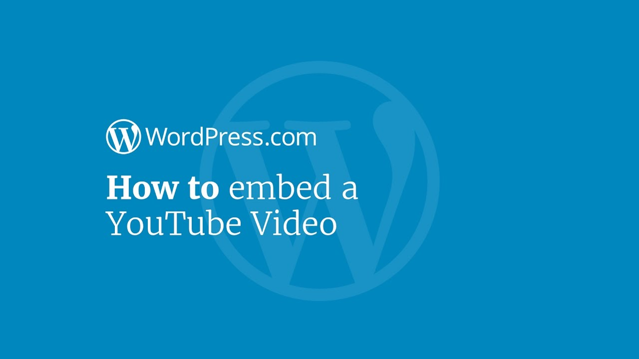 YouTube — Support — WordPress com