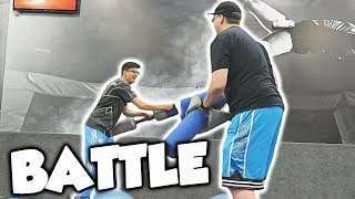 EPIC TRAMPOLINE PARK BATTLE!!