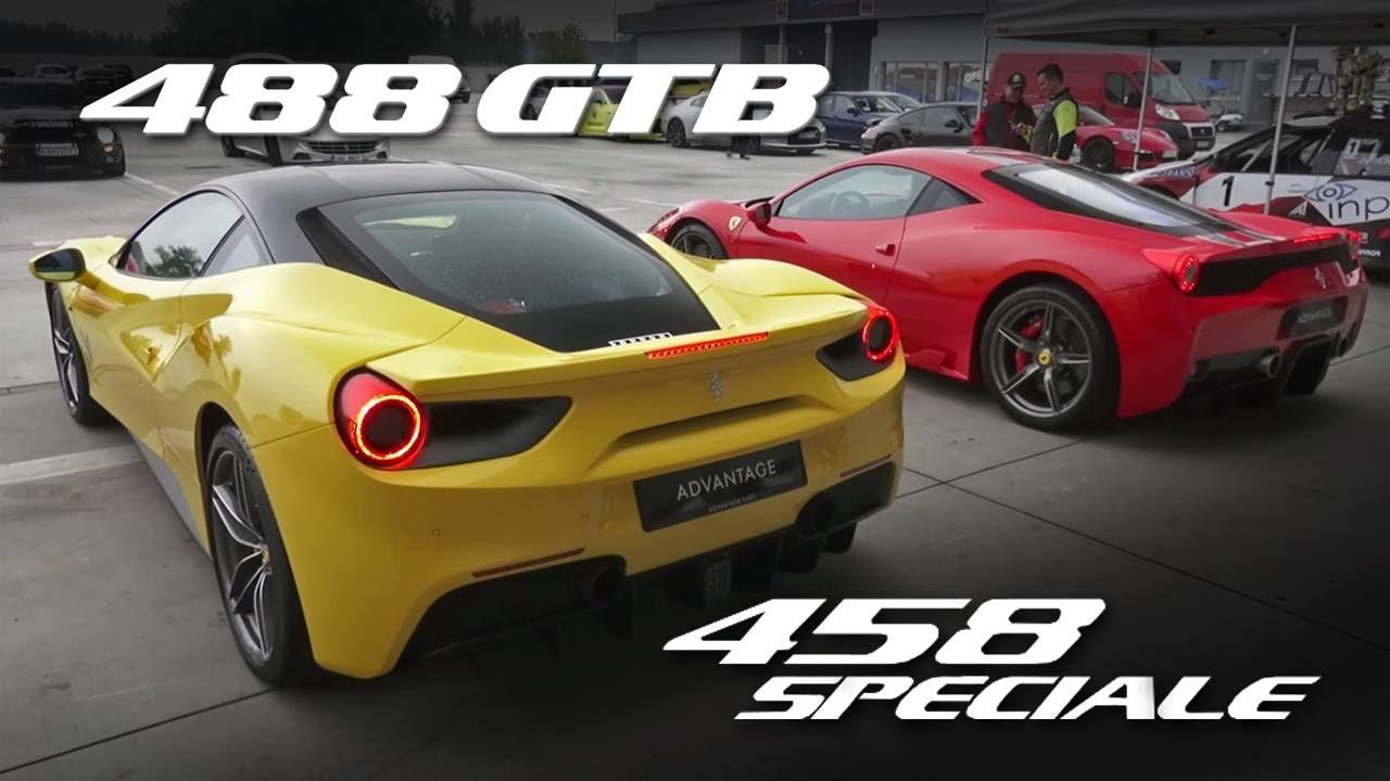 comparison | ferrari 488 gtb - 458 speciale novitec | rev battle