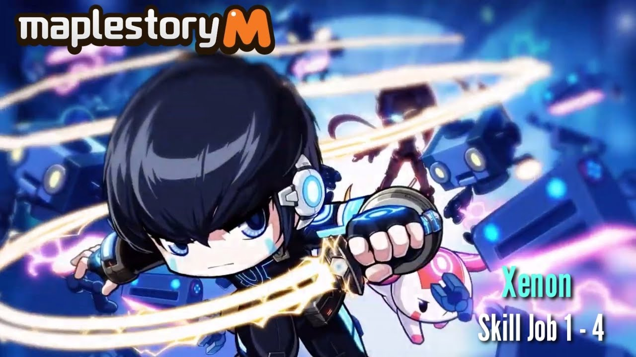 Maplestory M Xenon Skill 1 - 4 Job Preview