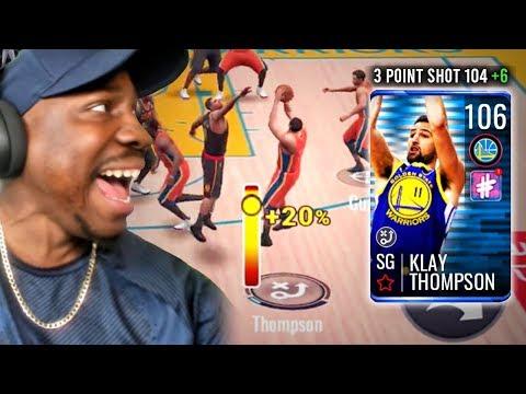 106 OVR KLAY THOMPSON SHOOTING IMPOSSIBLE 3 POINTERS! NBA Live Mobile 19 Season 3 Ep. 109