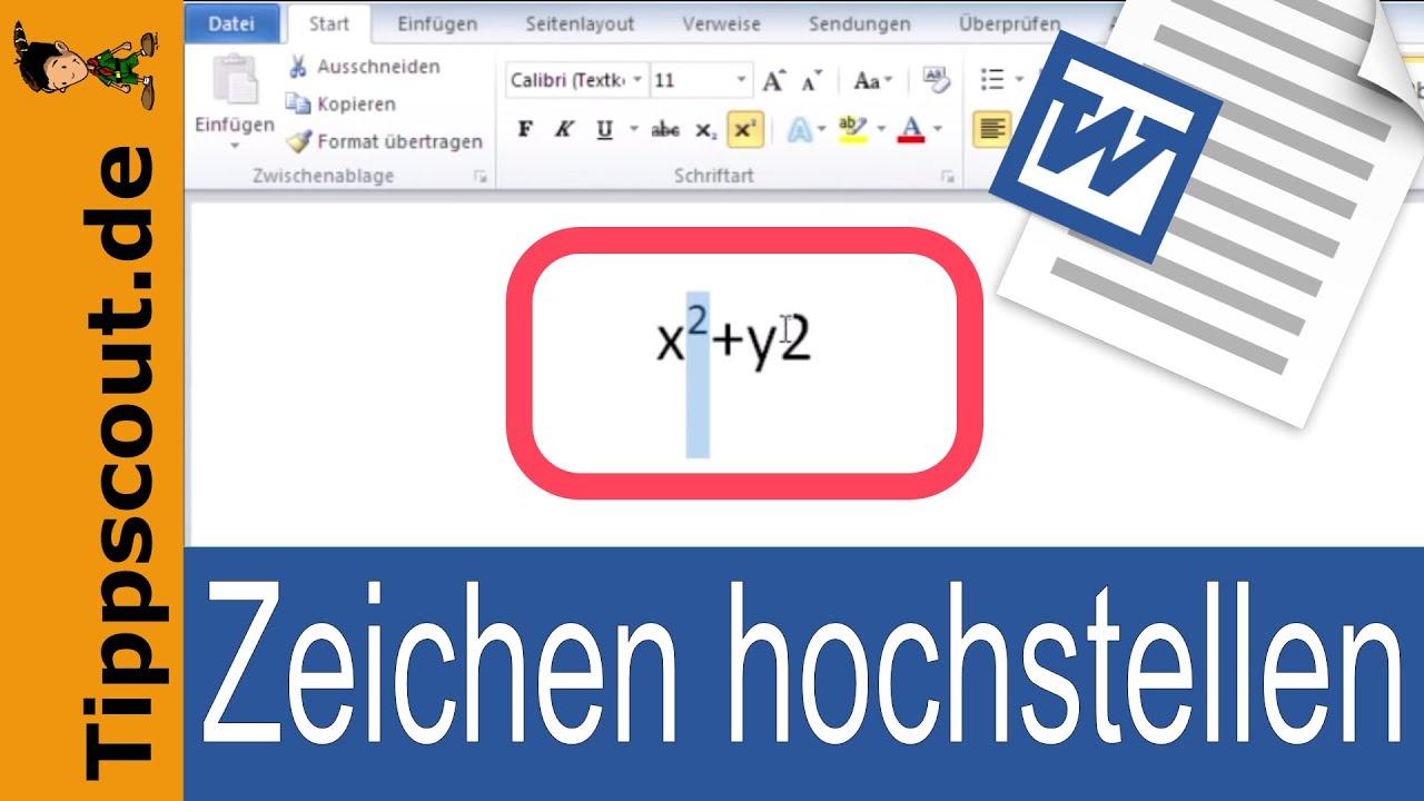 Word Hochzahlen