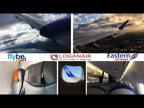 Comparing the Competition! Flybe v Loganair - Embraer 170 v Saab 340 - Aberdeen to Sumburgh