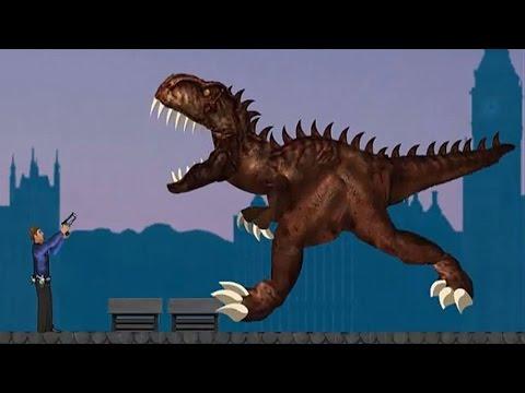 СТРАШНЫЙ ДИНОЗАВР Рекс в Лондоне Спасайся кто может МУЛЬТИК Игра / london Rex