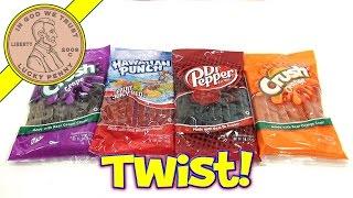 Dr Pepper, Hawaiian Punch, Orange & Grape Crush Licorice Candy Twists