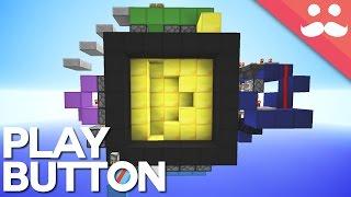 Gold Play Button Piston Door in Minecraft!