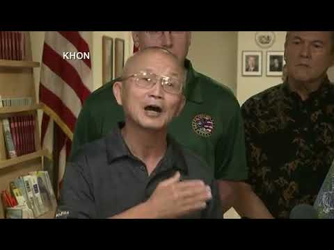 Press conference in Honolulu, after Hawaii officials mistakenly warned residents of inbound missile