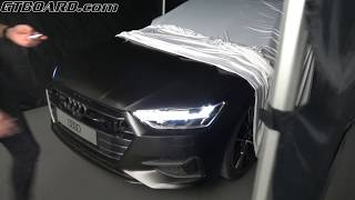 [4k] Audi A7 FRONT and REAR lights on and off ANIMATIONS. Cool!