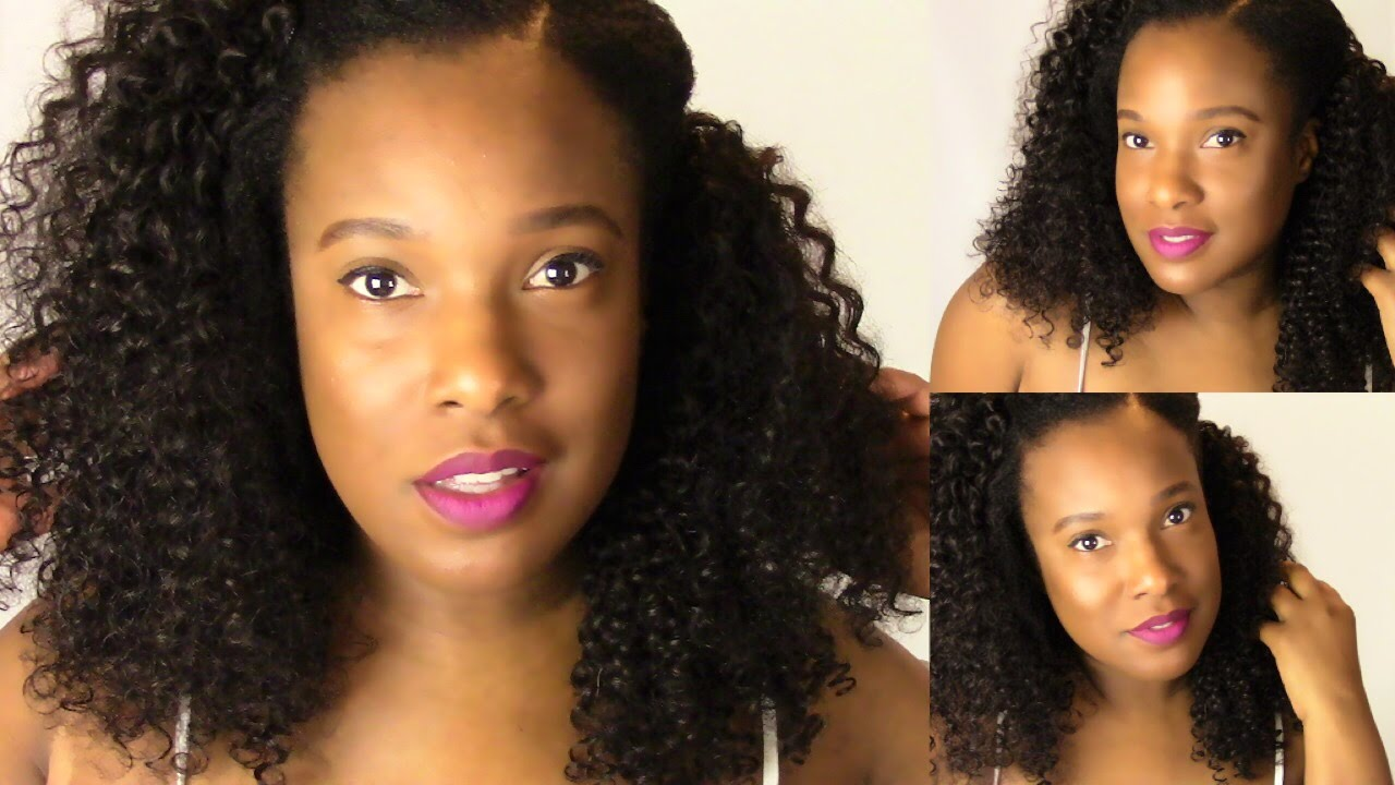 How i blend my natural hair w curly extensions ft clip fancy how i blend my natural hair w curly extensions ft clip fancy hair extensions pmusecretfo Images