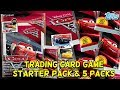 CARS 3 Trading Card Game Starter Pack Album AND 5 Packs Opening!