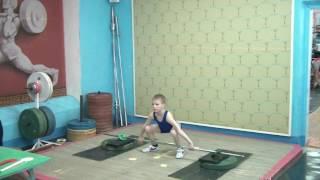 Валеев Денис, 9 лет, св 27.7 Рывок 10 кг
