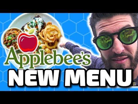 Taste Testing The New Applebee's Menu VLOG