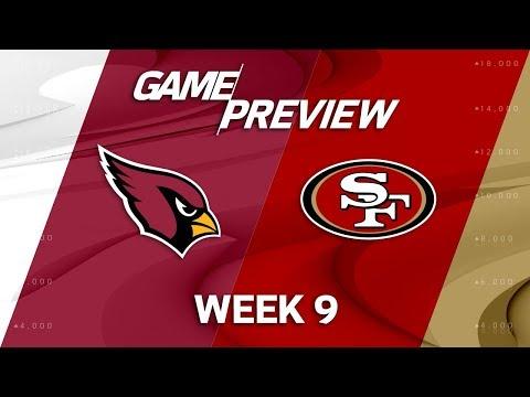 Arizona Cardinals vs. San Francisco 49ers   NFL Week 9 Game Previews