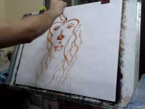 Portraits Drawings Painting Hyper Art Modern
