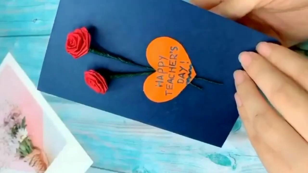 Teacher Day Gift Ida's/ Teacher Day wishing Card/Greetings Card DIY/ #greetingscard #giftcard # ...