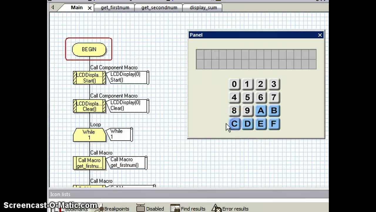 Flowcode beginners tutorial -6 interfacing lcd display with pic.