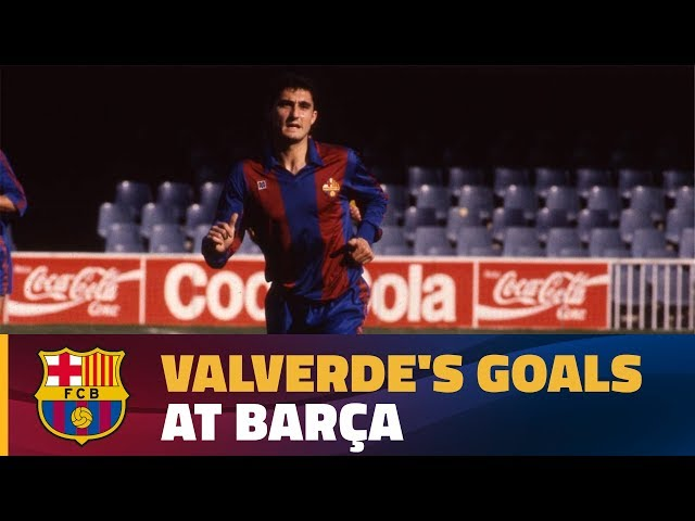 New Barça coach Ernesto Valverde in action in his previous spell at the club as a player