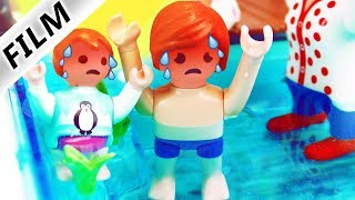 Playmobil Film Deutsch - HITZESCHOCK! EMMAS + JULIANS SONNENSTICH IM SWIMMING-POOL! Familie Vogel