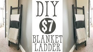 DIY $7 Blanket Ladder