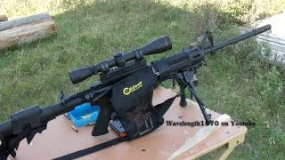 DPMS AR15 shooting steel at 428 yards. Hornady SP reloads | wavelength1970