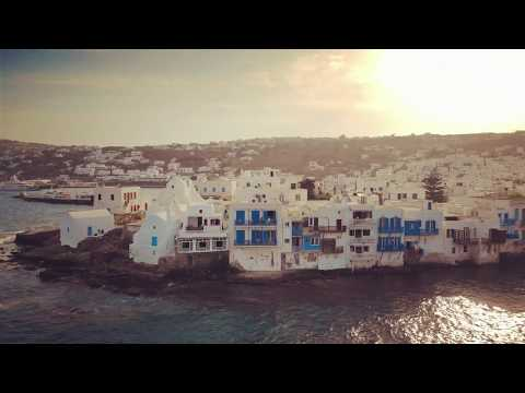 Little Venice Mykonos Greece 4k Drone video shot with DJI Mavic Air