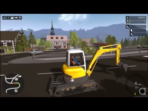 Construction Simulator 2015 Excavator The Farmer in the Dell Nursery Rhythm, Songs for kids |