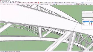 How to draw, cut to length, and assemble stadium arc trusses in sketchup