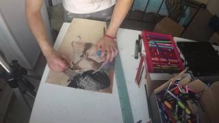Speed Drawing on Wood :: Cajon Baleotto