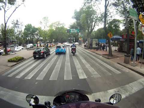 Ride through Mexico city with Gary, including police stop