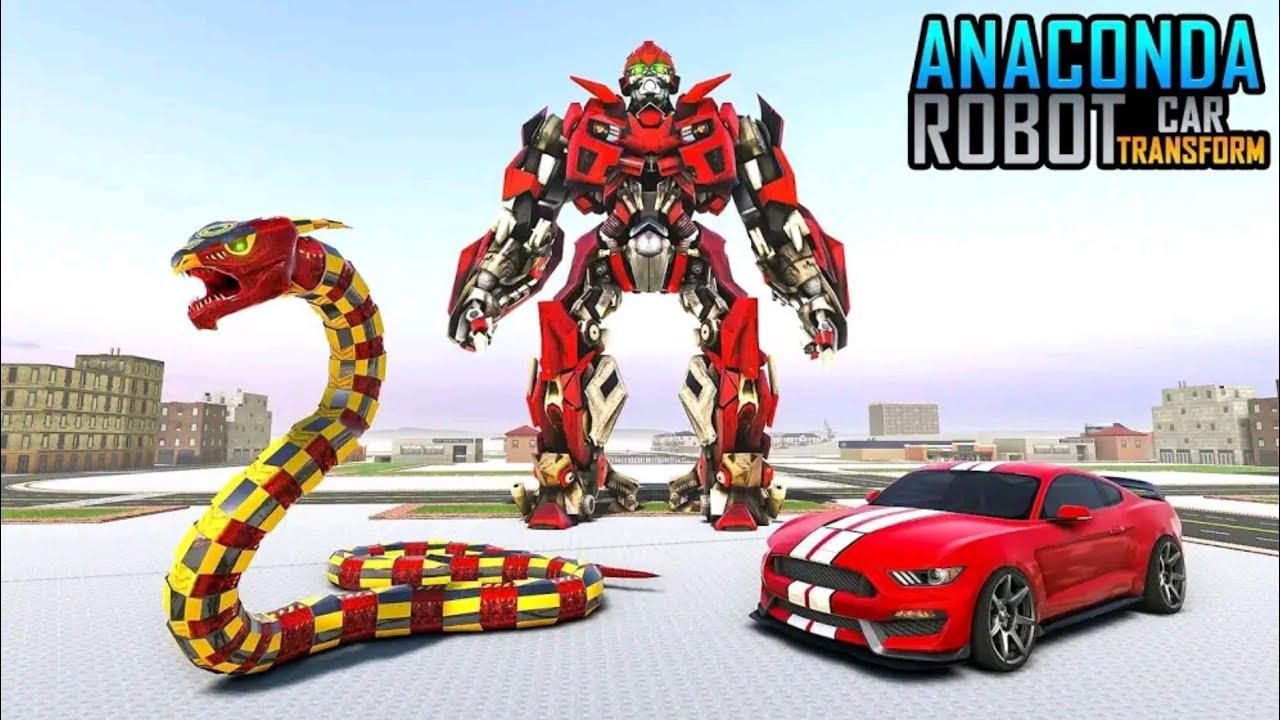 Ular Anaconda Berubah Jadi Mobil Balap Dan Robot Perang Anaconda Robot Car Game Youtube