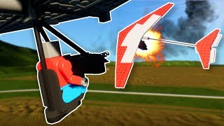 HANG GLIDER DOGFIGHT! - Brick Rigs Multiplayer Gameplay - Plane Dogfight Battle