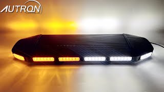 "216W LED 28"" Amber White Warn Emergency Wrecker Law Enforcement Flash Strobe Light Bar 12/30V"