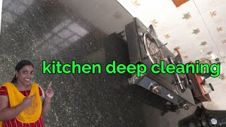 kitchen counter top deep cleaning || cleaning vlog