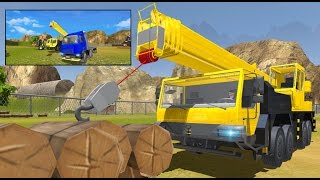 Log Transporter Truck Driver 3D -Transport Simulator / Videos Games for Kids Android