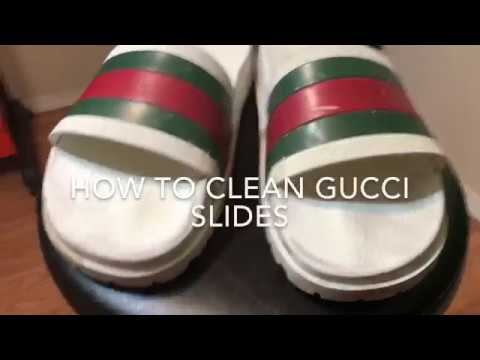 How to clean Gucci slides/Sandals