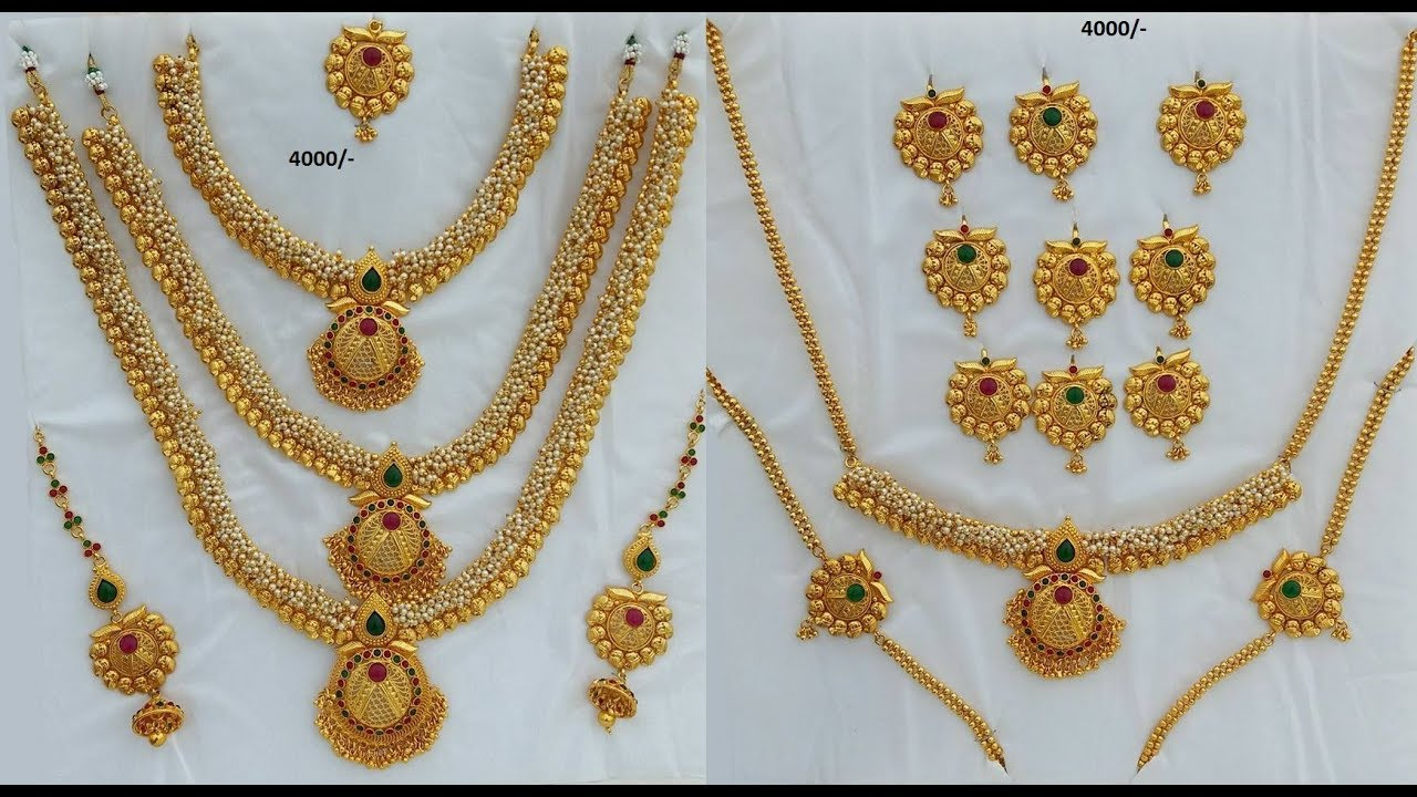 latest one gram gold jewellery with price - YouTube