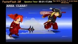 "FasterFlash #2 - ""Epic Battle Fantasy 2"" (Easy) Speedrun (00:22:12,064)"
