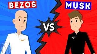 The Elon Musk - Jeff Bezos Feud Explained
