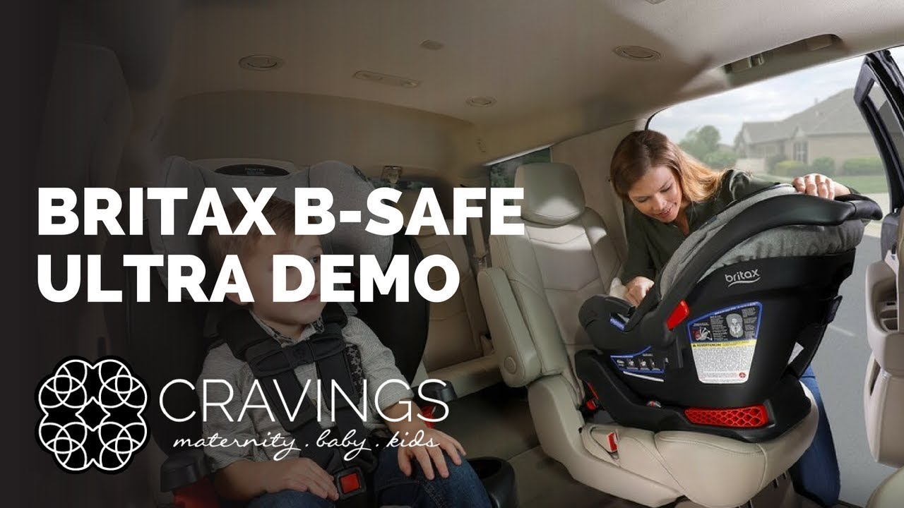 Britax B Safe Ultra Carseat Demo By Cravings